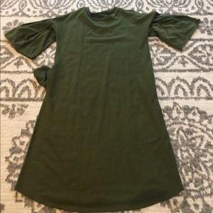 Olive Bell Sleeve Dress